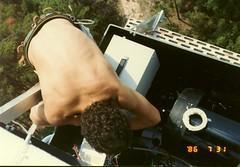 JR Purched Precariously On Site 3 Platform 860731 (grogley) Tags: film georgia bell labs 1986 att fso joer loson belllaboratories wansleypowerplant freespaceoptics