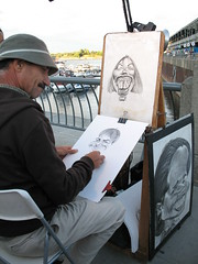 Artist on the port