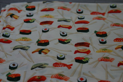 And the fun sushi fabric