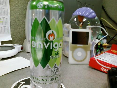 Enviga Green Tea tastes like sticks and dirt