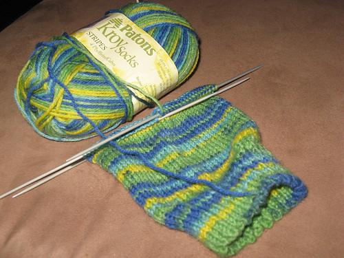 Tired Green Socks
