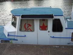 Communist Boat. (Fabricator of Useless Articles) Tags: uk hammer bristol boat x communist communism sickle redstar  fabricatorofuselessarticles