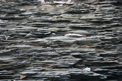Close up of the Slate Cliff Wall overlooking the Moore Bay
