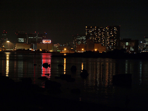 night odaiba seaside