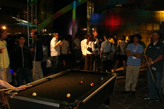 Playing Pool at Google Dance