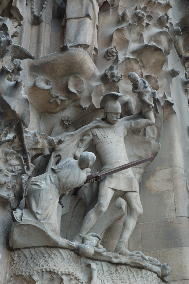 Nativity Façade: Soldier Slaying Baby  [enlarge]