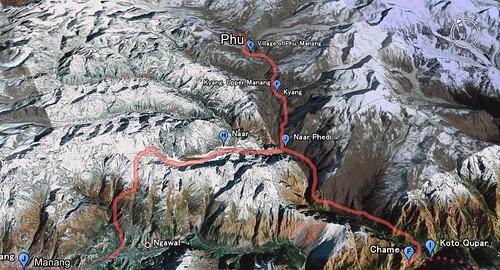 Phu & Nar trek map!