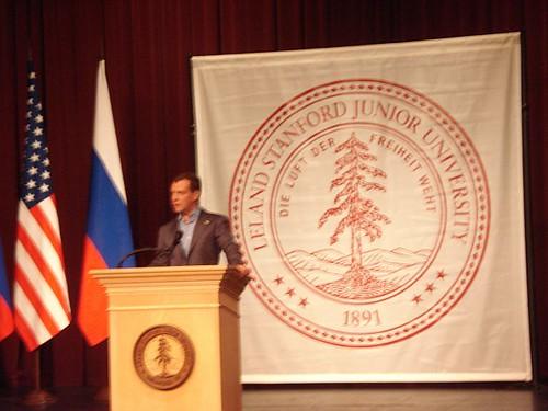 dmitry medvedev steve jobs. Dmitry Medvedev at Stanford