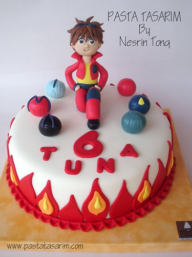 BAKUGAN CAKE - TUNA BIRTHDAY