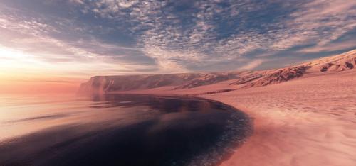フリー写真素材, 自然・風景, ビーチ・砂浜, 海, パノラマ,
