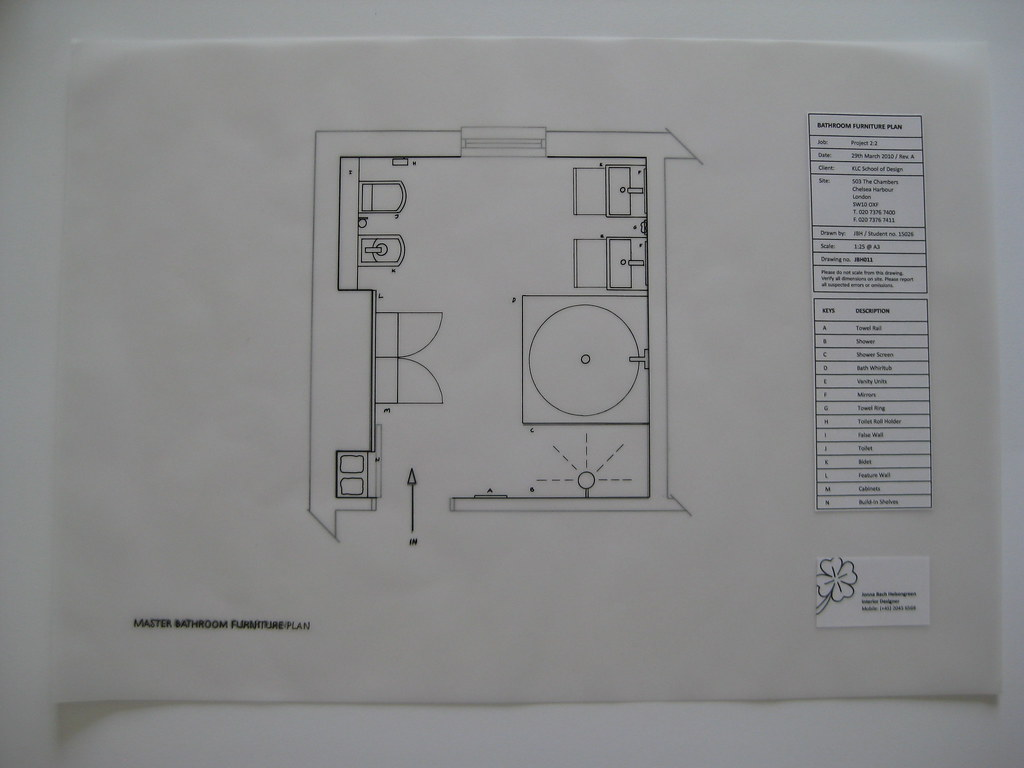 2.2 bathroom floor and furniture plan