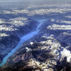chasm (ecstaticist) Tags: mountain snow canada pentax rocky glacier alberta westjet range fiord kx