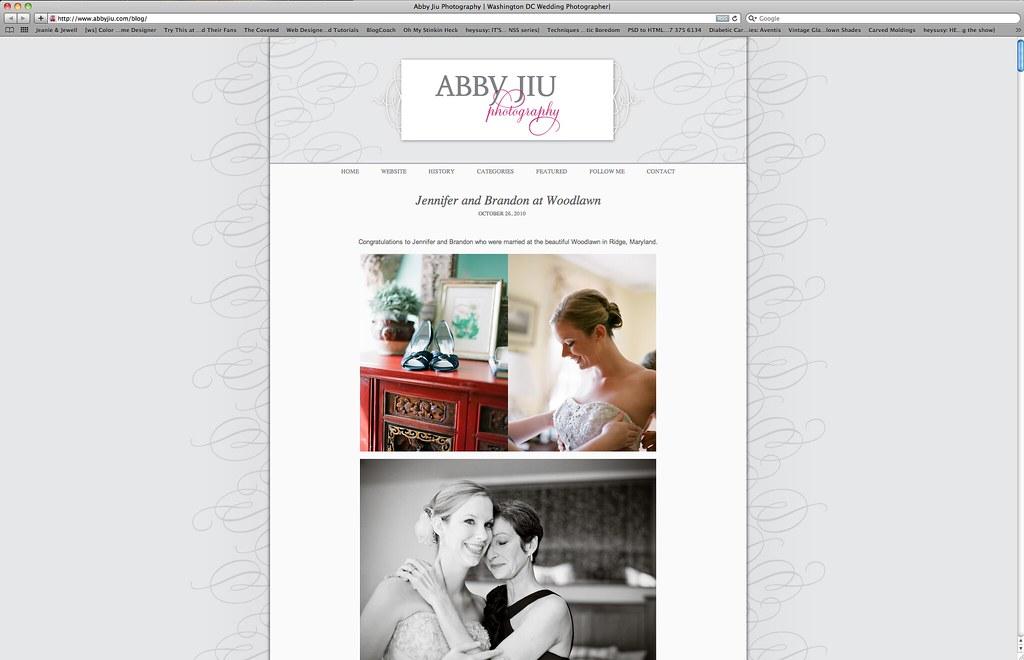 Abby Jiu, blog design.