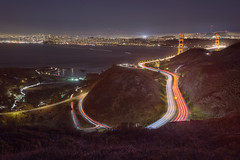 (exxonvaldez) Tags: sanfrancisco night marin 101 goldengatebridge freeway hdr coastaltrail sfist