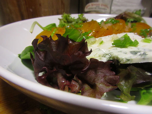 Roasted Golden Beet & Goat Blue Salad