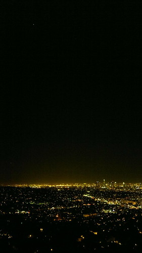 Jupiter over Downtown Los Angeles