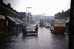 Flood at Abbey Wood (John A King) Tags: bus water rain flood 180 abbeywood harrowmanorway ownpour