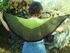 010 Daybreak Shawl in SPRING LIME