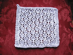 Lacey Diamonds dishcloth