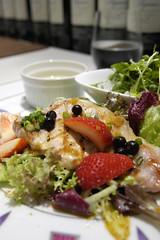 望来豚のグリエ 苺・カシス添え 生姜醤油和え, Kitchen Stage, Hotel de Mikuni, 新宿伊勢丹
