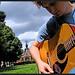 gitaar in de zon