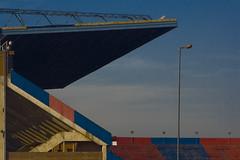 Visera. Estadio San Lorenzo de Almagro. Gasómetro (leospinetto) Tags: argentina buenosaires estadio sanlorenzo futbol diseño lugano fútbol gasómetro leospinetto
