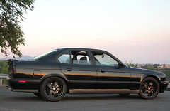 BMW E34 M5 aka the BEAST (IshootU) Tags: auto black car sport sedan power fat limo m ill wicked german bmw beast 1991 tight pm filthy sick schwartz m5 uber phat beemer supersport e34 bimmer blacked mpower