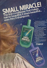 1980's Small Miracle Conditioner (twitchery) Tags: vintage hair feather shampoo 80s 70s conditioner blowdryer vintageads vintagebeauty