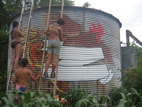 corn silo sign