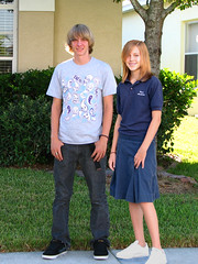 First Day of School - Andrew & Audrey