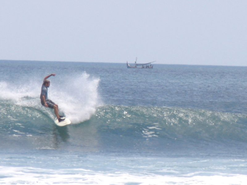 Surfer at Balangan beach