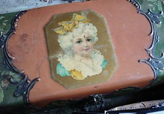 Old Beauty (thejoyof) Tags: beauty treasure market box antique flea find shabby scrolly