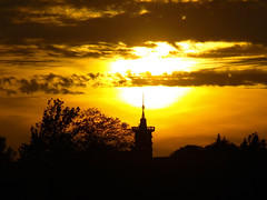 Zpad slunce (Houmr13) Tags: sunset sun geocaching sundown goingdown chata slunce zpad jirskova