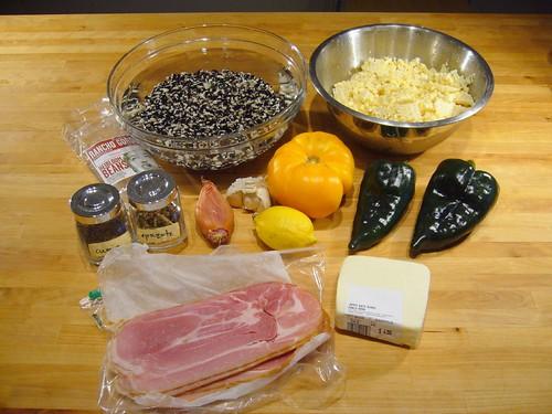 Corn & Bean Salad Ingredients