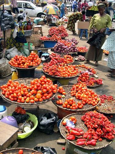 Nigerian street market