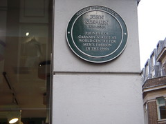 Photo of John Stephen green plaque