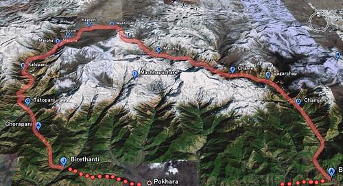 Annapurna  circuit trek map!