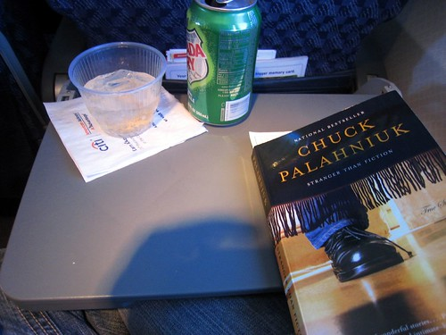 On the plane - thanks for the book, d!