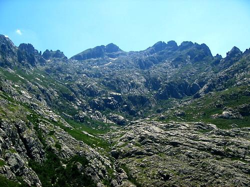 Le haut vallon de Coracchia sous le Migliarellu