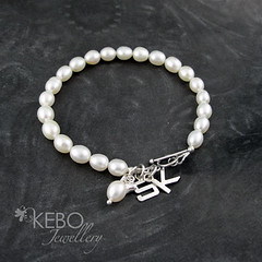Pearly Princess Bracelet (KEBO Jewellery) Tags: wedding silver handmade jewellery bracelet handcrafted sterling jewlery bridal madeinbritain sterlingsilver freshwaterpearls kebo srajd kebojewellery kellyboulter
