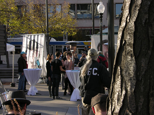 open air gallery scene
