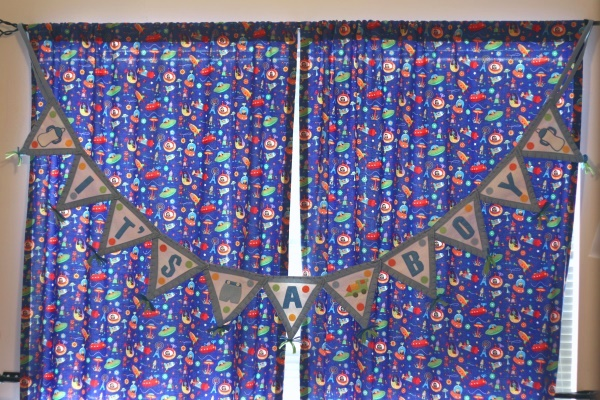 Finished Nursery Curtains
