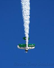 Viper With Smoke (Tony Scislaw Photographer*) Tags: sky jason beach plane airplane florida aircraft smoke airshow cocoa viper newburg aerobatics pitts pittss1c
