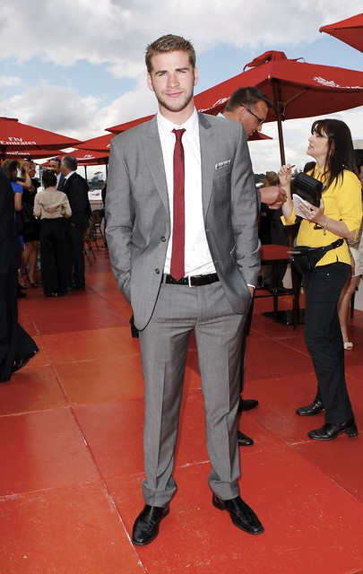 #5989123 Liam Hemsworth   attends the 150th Melbourne Cup on November 02, 2010 in Melbourne, Australia....Restriction applies: USA ONLY.. Fame Pictures, Inc - Santa Monica, CA, USA - +1 (310) 395-0500