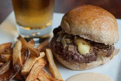 Burger & Fries (MissMopo) Tags: food dinner burger homemade fries local pommefrites