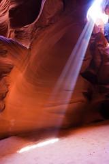 Who will be there to remember us? (henrikj) Tags: lighting light arizona usa nature ecology america us sand scenery unitedstates unitedstatesofamerica 4 canyon beam page land april northamerica environment concept conceptual environmentalism narrow 2010 slotcanyon ecosystem concepts antelopecanyon lightbeam