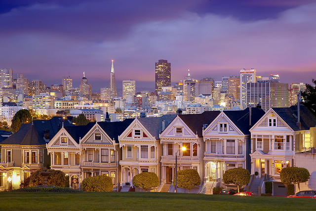 City Lights, Alamo Square, San Francisco, California