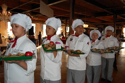 Chicago high school student chefs-in-training compete to create the healthiest, tastiest school meals at the fourth annual Cooking Up Change event held on November 4th.