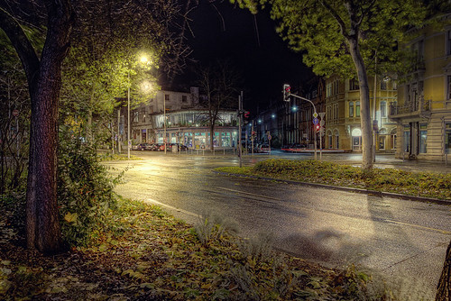 Trier City at night HDR
