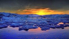Vodka Martini, plenty of ice... if you can spare it. (Karnevil) Tags: sunset nature iceland lagoon jamesbond jökulsárlón glacial dieanotherday diamondclassphotographer flickrdiamond flickrelite viplanet